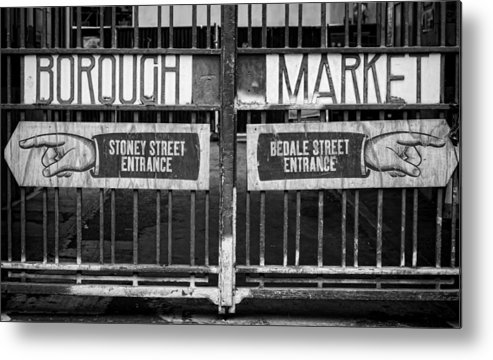 Borough Market Metal Print featuring the photograph Signs Point The Way by Heather Applegate