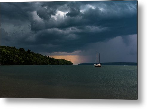 Bayfield Metal Print featuring the photograph Storm Schooner by Tommy Nigbor