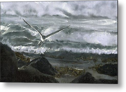 Metal Print featuring the painting Stormy Flight 2 by Charles Parks