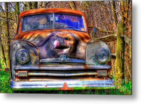Cars Metal Print featuring the photograph Storyteller by David Simons