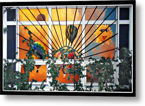 Hotair Metal Print featuring the sculpture Sun And Hot Air by Stickney Studio
