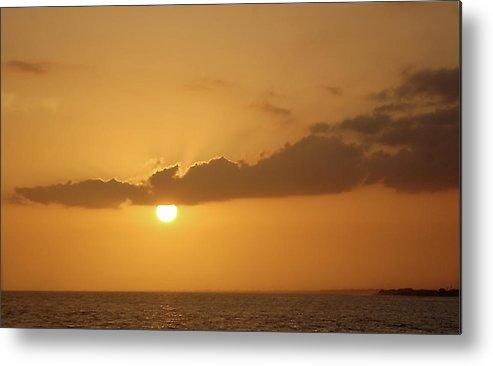 Sunset  Sea Sun Sky Metal Print featuring the photograph Sunset In Sea by Yury Bashkin