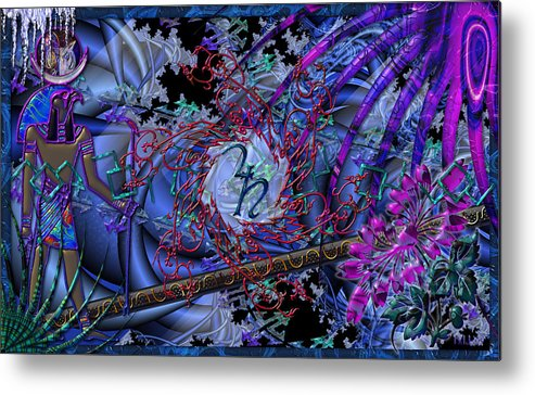 Metal Print featuring the digital art Symagery 29 by Kenneth Armand Johnson