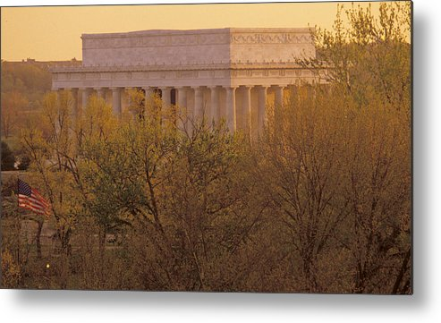 Lincoln Memorial Metal Print featuring the photograph The Lincoln Memorial, Seen by Kenneth Garrett