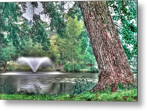 Metal Print featuring the photograph Fountain by Mike Berry