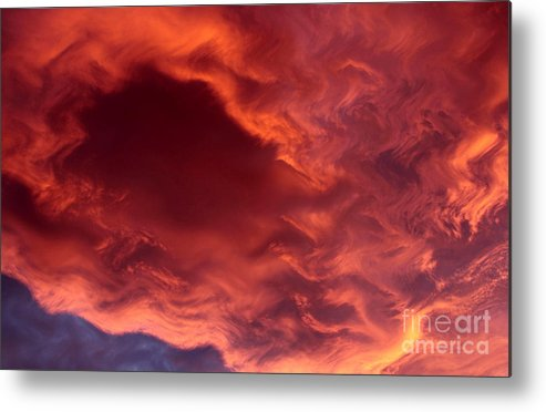 Clouds Metal Print featuring the photograph Sky Fire by Krissy Katsimbras