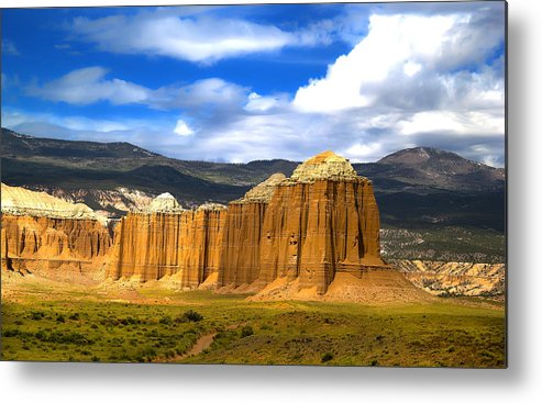 Capitol Reef National Metal Print featuring the photograph Capitol Reef National Park Cathedral Valley by Mark Smith