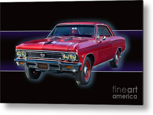 1966 Chevy Ss Metal Print featuring the photograph 1966 Chevy Ss by Tony Pierleoni