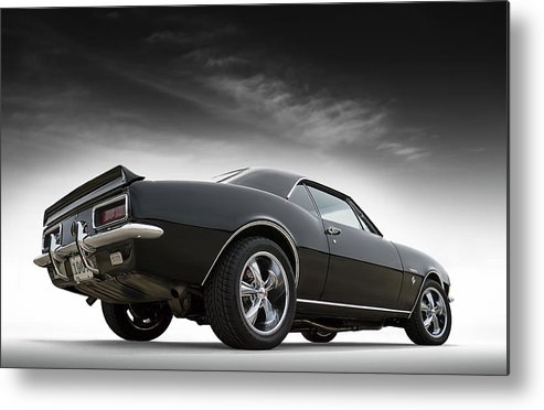 Camaro Metal Print featuring the digital art 1967 Camaro Rs by Douglas Pittman