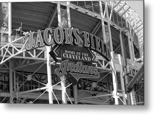 America Metal Print featuring the photograph Jacobs Field - Cleveland Indians by Frank Romeo