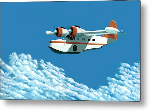 G-21 Metal Print featuring the painting Above It All The Grumman Goose by Gary Giacomelli