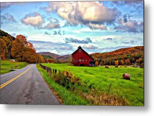 West Virginia Metal Print featuring the photograph Ah...west Virginia Painted by Steve Harrington