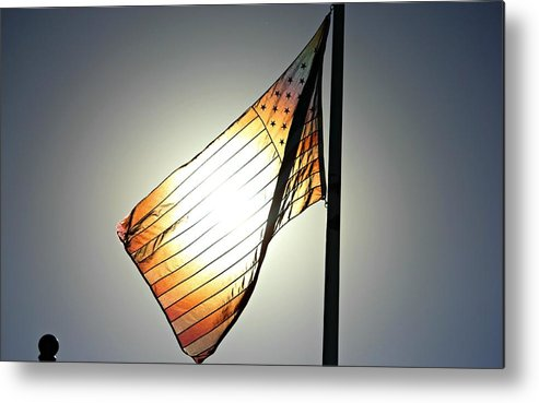 Flag Metal Print featuring the photograph America The Beautiful by Joel Rams