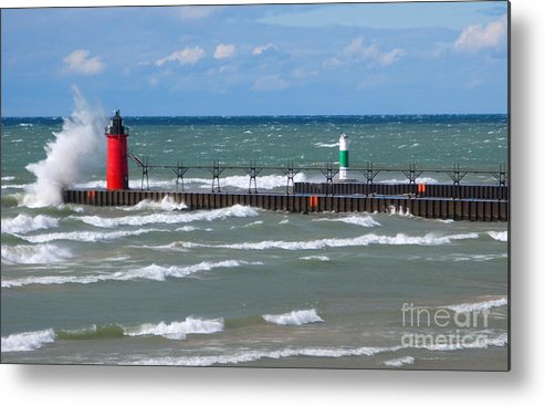Lighthouse Metal Print featuring the photograph Another Big Wind by Ann Horn