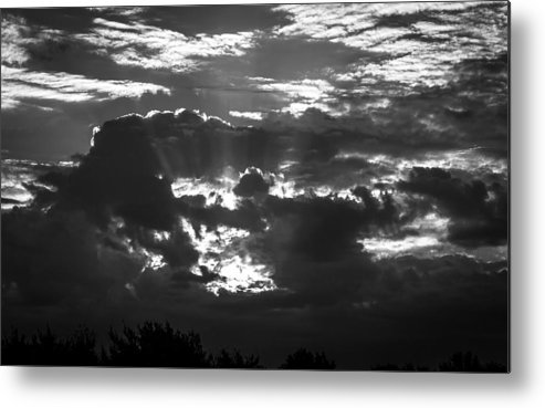 Clouds Metal Print featuring the photograph Beams Of Light by Justin Moran