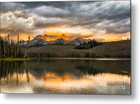 Rocky Mountains Metal Print featuring the photograph Beautiful Sunrise On Little Redfish Lake by Robert Bales