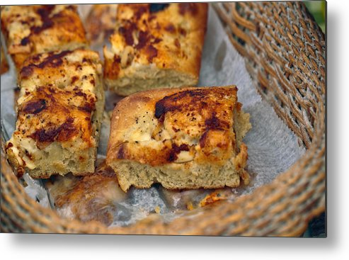 5d Mark Iii Metal Print featuring the photograph Bechamel And Roasted Garlic Focaccia by John Hoey