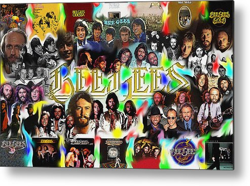 Bee Gees Metal Print featuring the digital art Bee Gees History Montage by GR Cotler