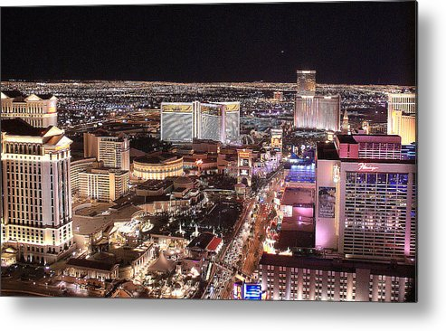 Las Vegas Metal Print featuring the photograph City Scapes by Broderick Delaney