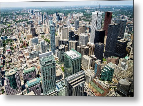 Air Metal Print featuring the photograph Cn Tower View by James Wheeler