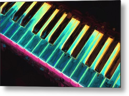 Piano Metal Print featuring the painting Colorful Keys by Bob Orsillo