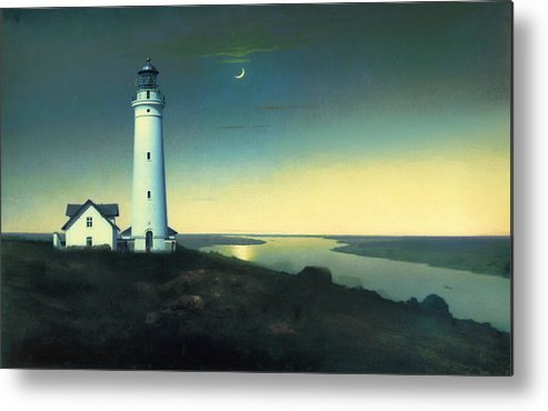 Light House Metal Print featuring the painting Daily Illuminations by Douglas MooreZart