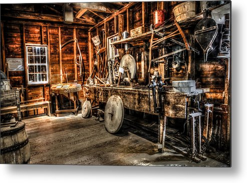 Millstone Metal Print featuring the photograph Dressing Room by Ray Congrove