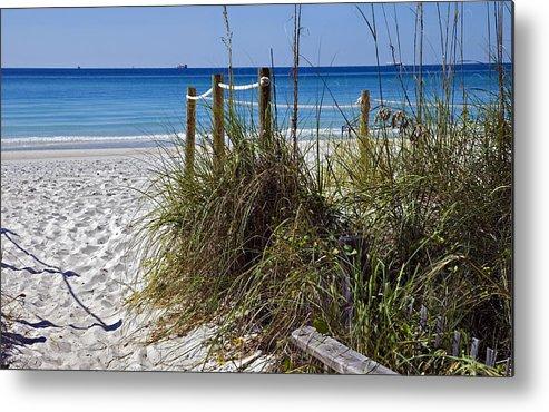 Coastline Metal Print featuring the photograph Enter The Beach by Susan Leggett