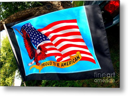 Flag Day Metal Print featuring the photograph Flag Day by William Bennett