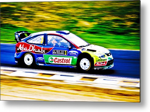 2010 Ford Focus Metal Print featuring the photograph Ford Focus Wrc by motography aka Phil Clark