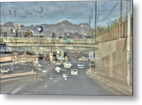 Abstract Metal Print featuring the photograph Freeway by Ethan Bach