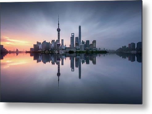 Shanghai Metal Print featuring the photograph Good Morning Shanghai by Jes?s M. Garc?a