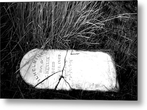 Spiritual Metal Print featuring the photograph Grave Western Nevada by Candee Lucas