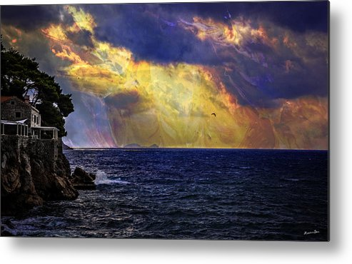 Dubrovnic Metal Print featuring the photograph I Have Seen Fire And I Have Seen Rain by Madeline Ellis