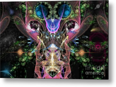 Metal Print featuring the digital art Indifference by Rhonda Strickland