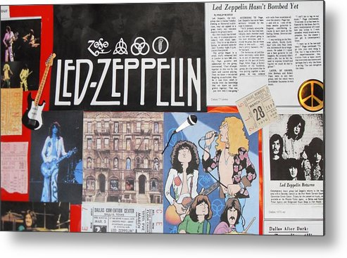 Led Zeppelin Metal Print featuring the photograph Led Zeppelin Past Times by Donna Wilson