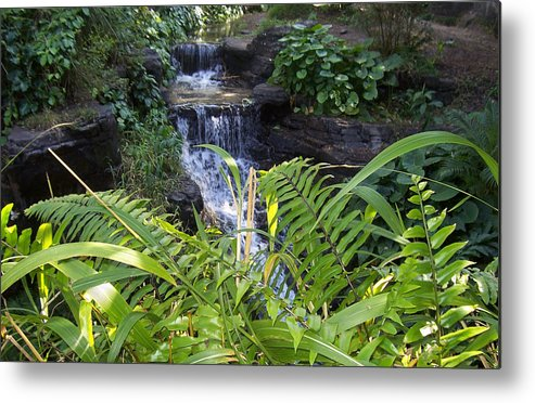 Water Metal Print featuring the photograph Little Waterfall by Rich Fatalo
