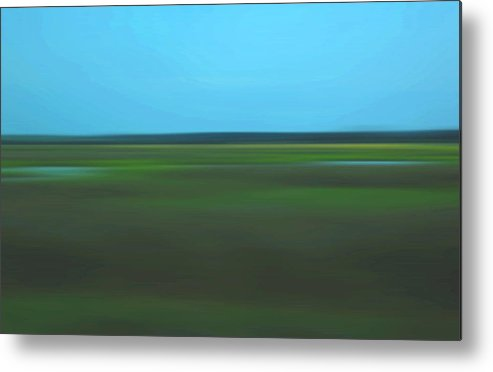 Abstract Metal Print featuring the photograph Marsh Blur by Suzanne Gaff