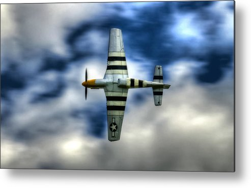 P51 Mustang Metal Print featuring the photograph P51d Mustang Ferocious Frankie by Phil 'motography' Clark