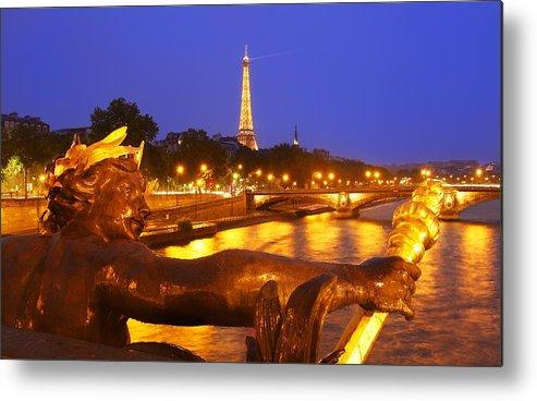 Paris Metal Print featuring the photograph Paris At Night by Dan Breckwoldt