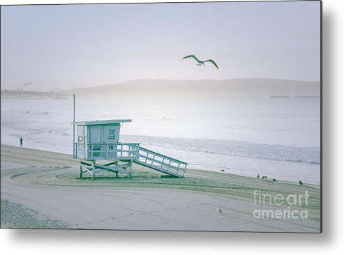 Santa Monica Metal Print featuring the photograph Santa Monica Beach by Wendy Gunderson