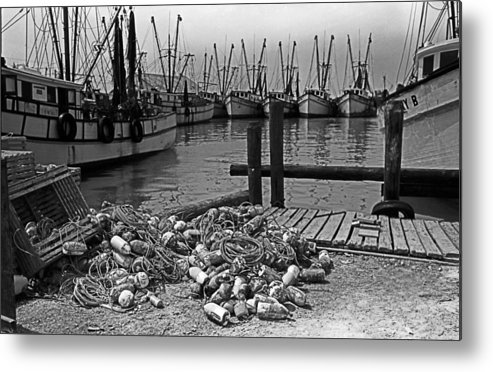 Boats Metal Print featuring the photograph Shrimp Boats In Key West by Thomas D McManus