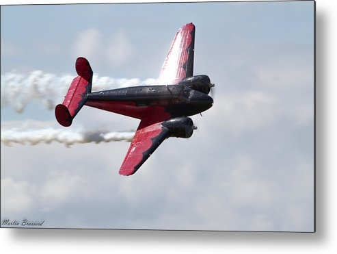 Airshow Metal Print featuring the photograph Smoking 18 by Martin Brassard