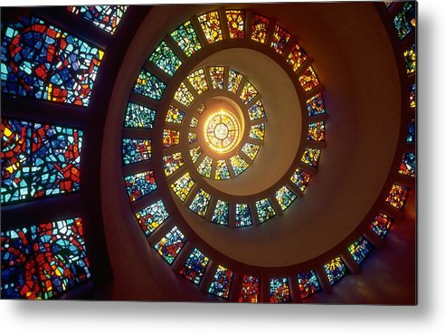 Abstract Metal Print featuring the digital art Stained Glass by Gianfranco Weiss