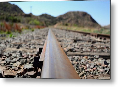 Train Metal Print featuring the photograph Straight And Narrow by Derry Murphy