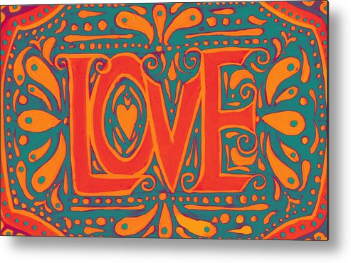 Love Metal Print featuring the painting Summer Love by Nada Meeks