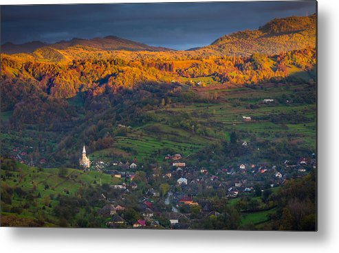 Landscape Metal Print featuring the photograph Sunset After Rain by Adrian Popan