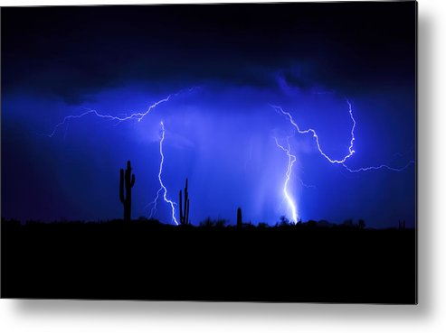 Lightning Metal Print featuring the photograph Take The Bull By The Horns by Saija Lehtonen