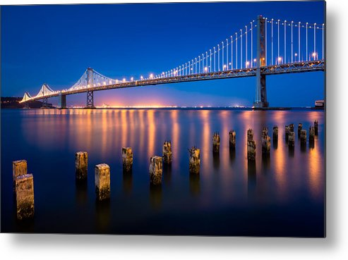 Bay Bridge Metal Print featuring the photograph The Bay Lights by Alexis Birkill