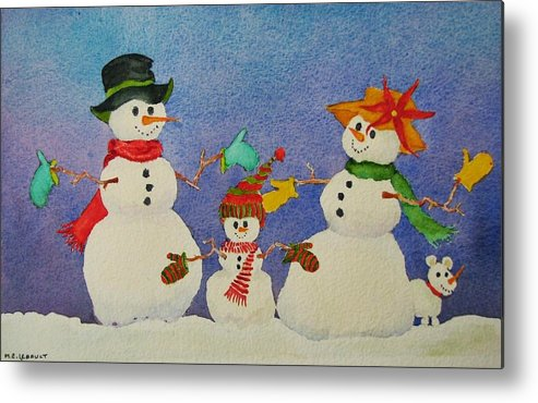 Winter Metal Print featuring the painting Tres Chic by Mary Ellen Mueller Legault